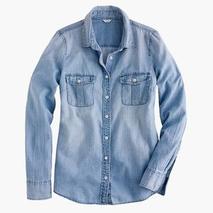 J Crew Keeper Chambray Button Front Shirt